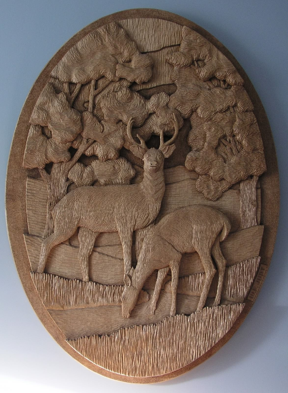 The bark shack relief carving